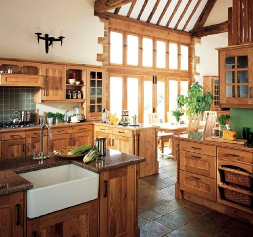 Setting cozy kitchen in country style  Interior Design