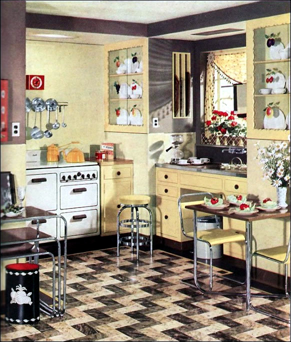 Retro Kitchen Design Sets and Ideas  Interior Design