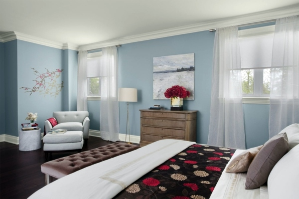 nice colors for living room walls decorating ideas uk 2017 powder blue wall paint – water-colored interior | ...