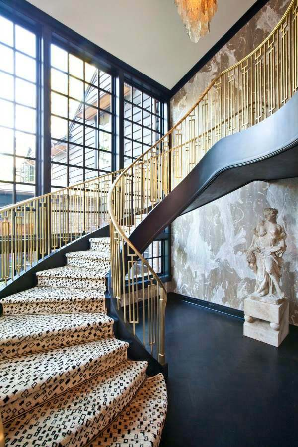 Fabulous staircase rugs bring color