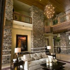 Rustic Leather Sofa Set Score World Cup Receive The Natural Home – Stone Wall In ...