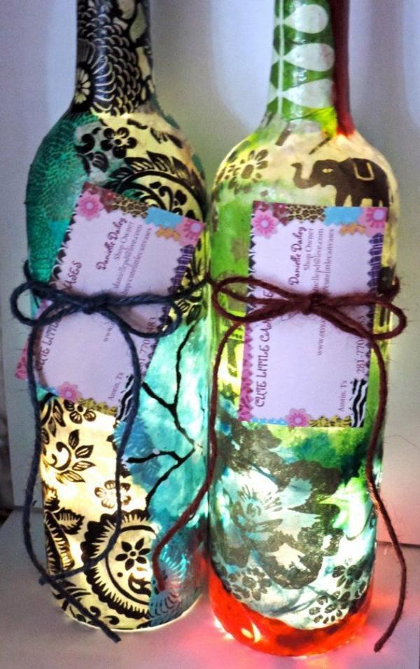 DIY Lamp from Wine Bottles  creative decorating ideas  Interior Design Ideas  AVSOORG