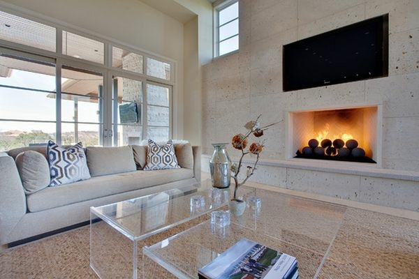 design ideas for small living room with corner fireplace ashley furniture coffee table made of acrylic glass complements any ...
