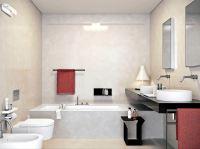 Modern Built-in bath tub with space saving design ...