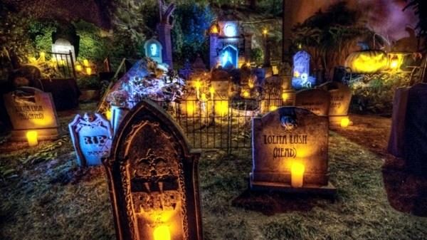 Halloween Party Decoration In Garden Interior Design Ideas