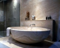Modern Bathtubs Made of wood and stone | Interior Design ...