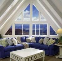 Triangular windows darken  window blinds or window films ...