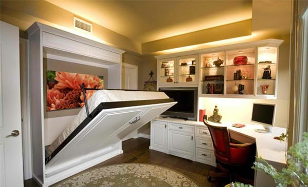 space saving sofa beds spring repair parts wall cabinet with folding bed – living ideas for practical ...