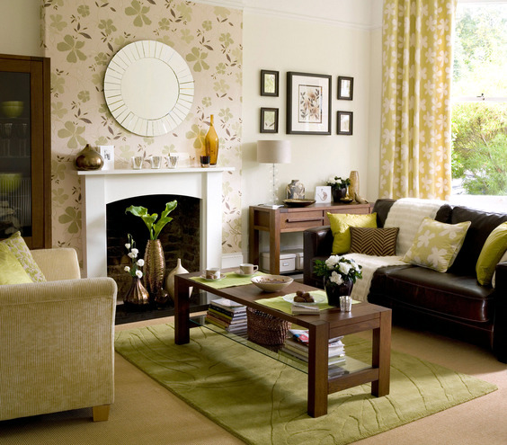 Spring Decorations And Colors In The Living Room Interior Design Ideas
