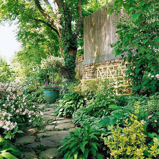 clever landscaping stylish transition