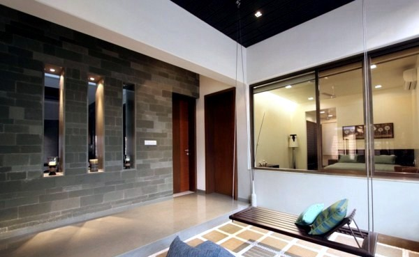Modern house with natural stone walls and chic dcor  Interior Design Ideas  AVSOORG