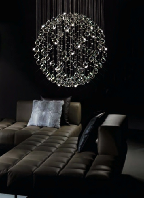 Strange Idea For Ball Glass Chandelier Decoration 13 Ideas Beautiful Ambience