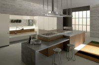 Countertop with concrete look  kitchen countertops made ...