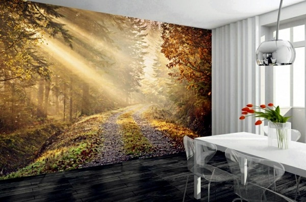 Murals Forest Enjoy The Tranquility Of Nature Wall