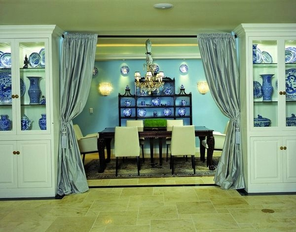 use curtain room divider smart home