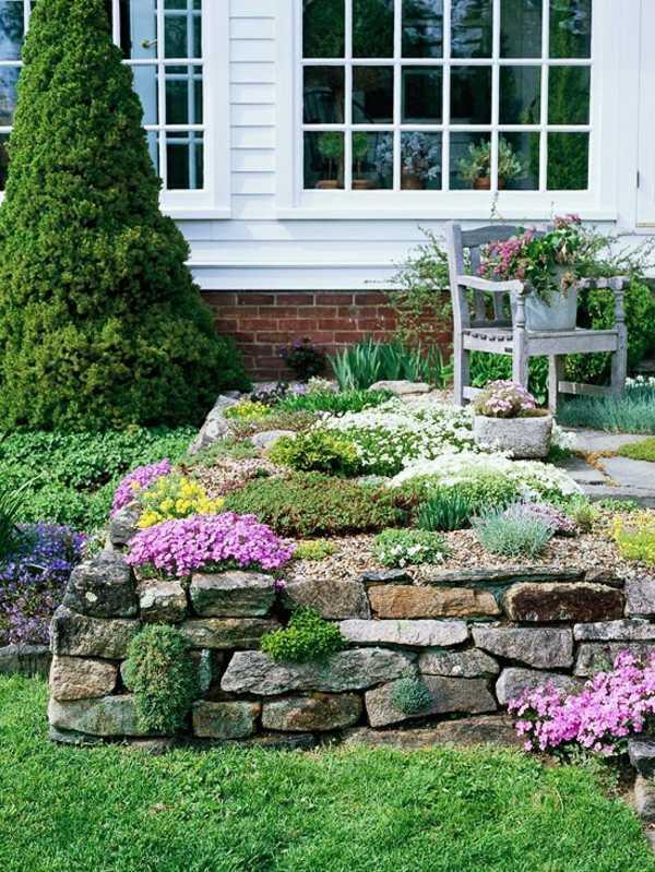 Make Stone Wall In The Garden – Creative Exterior Architecture