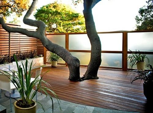 Wood Tiling Wooden Floor On The Balcony Interior Design Ideas Avso Org