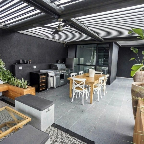 modern wooden sofa set designs for living room what was a bed covered terrace – 50 ideas patio roof of houses ...