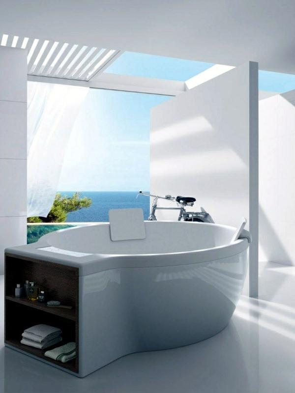 Freestanding bathtub in modern bathroom | Interior Design ...