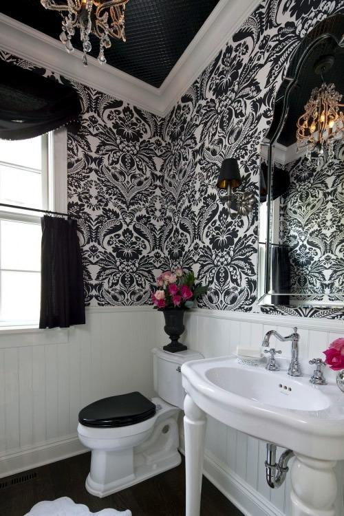 Traditional Black And White Bathroom Ideas Interior Design Ideas Avso Org
