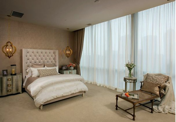 Bedroom Design And Wall Colors Charm And Luxury In The