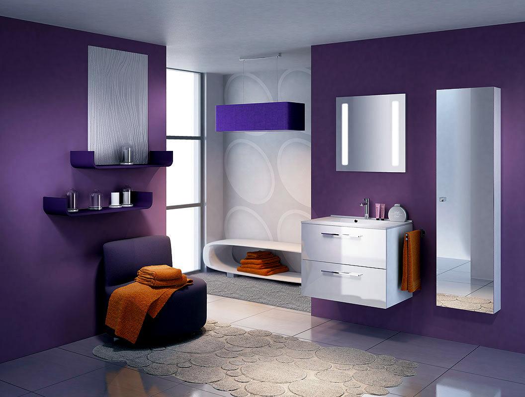 Elegant Purple Bathroom Design Interior Design Ideas