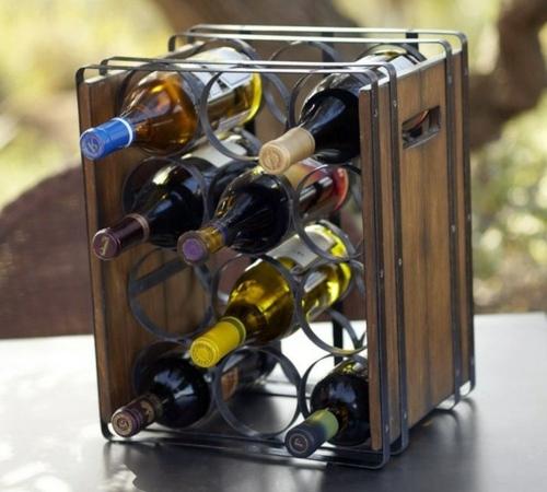 ideas for freestanding wine racks
