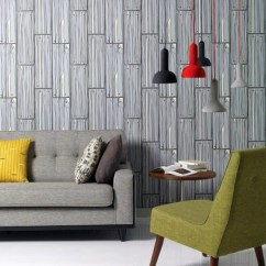 Wallpaper Decoration For Living Room Corner Sofa Design Small Wall Ideas Cool Examples Of Pattern With Wood Look