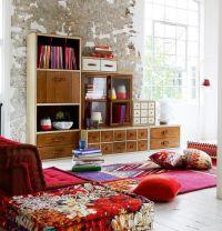 Casual chic living room design: Rustic, cozy furniture ...