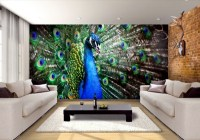 Peacock feathers decoration in the living room  Trends ...