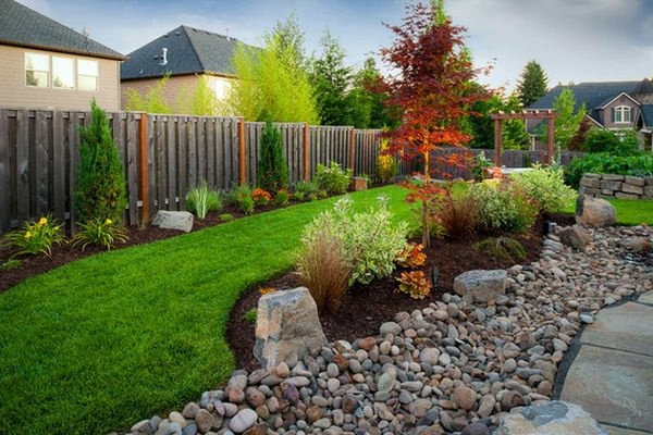 install pebbles and river stones