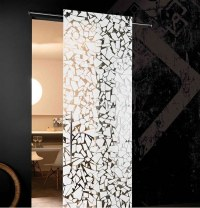 Interior doors made from glass  modern, aesthetic glass ...