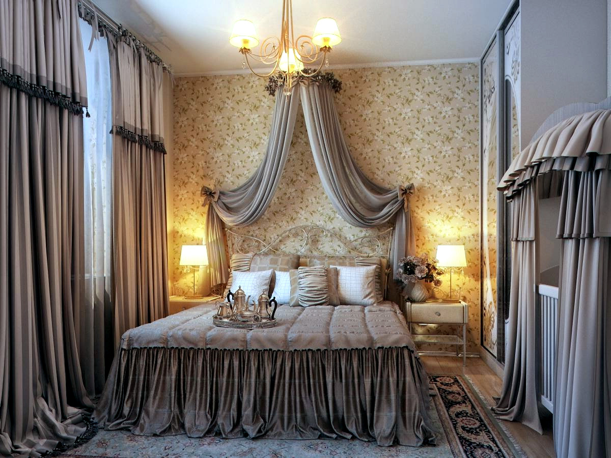 Bedroom with traditional elegance  Interior Design Ideas