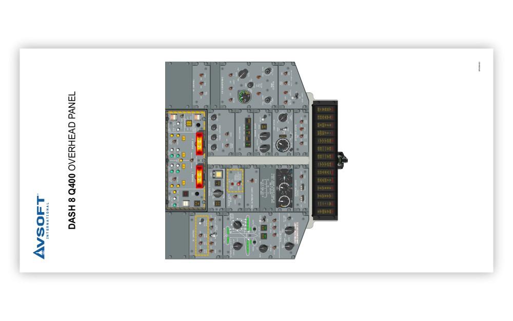 Dash 8 Q400 Cockpit Poster