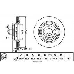 Zavorni disk FIAT Croma, OPEL Signum, Vectra C, SAAB 9-3