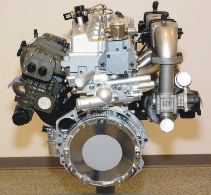 Motor s homogenim zgorevanjem.