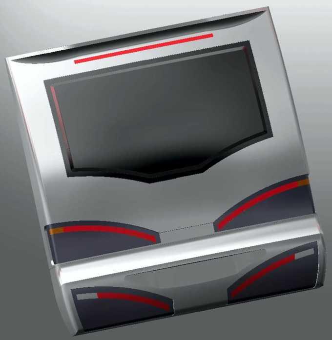 Na podlagi tehnične risbe so v razvoju narisali 3D računalniško risbo, na kateri je bila celotna oblika določena in pripravljena za rezkanje. Na podlagi te risbe so v podjetju Plastoform Blanca razvili in izdelali zadnjo okno iz črnega akrila.