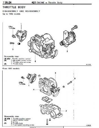 Mitsubishi Двигатели 4G15 4G37 4G6 4G9 4G7 1992-1993