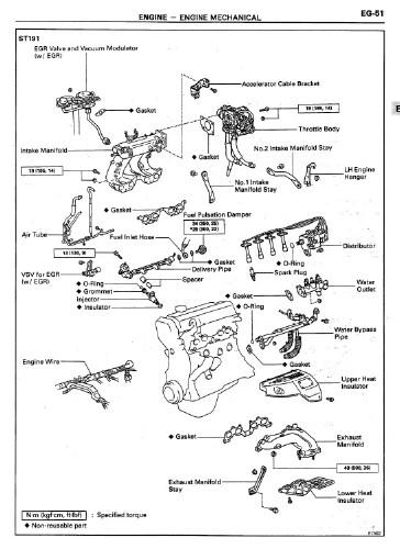 Руководство по ремонту двигателя Toyota 3S-FE (RM395