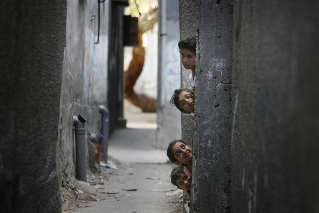 Il campo profughi di Jabaliya nella striscia di Gaza (Ansa)