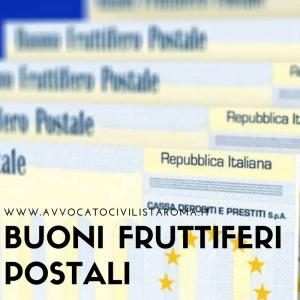 Buoni Fruttiferi Postali rendimento prescrizione avvocato