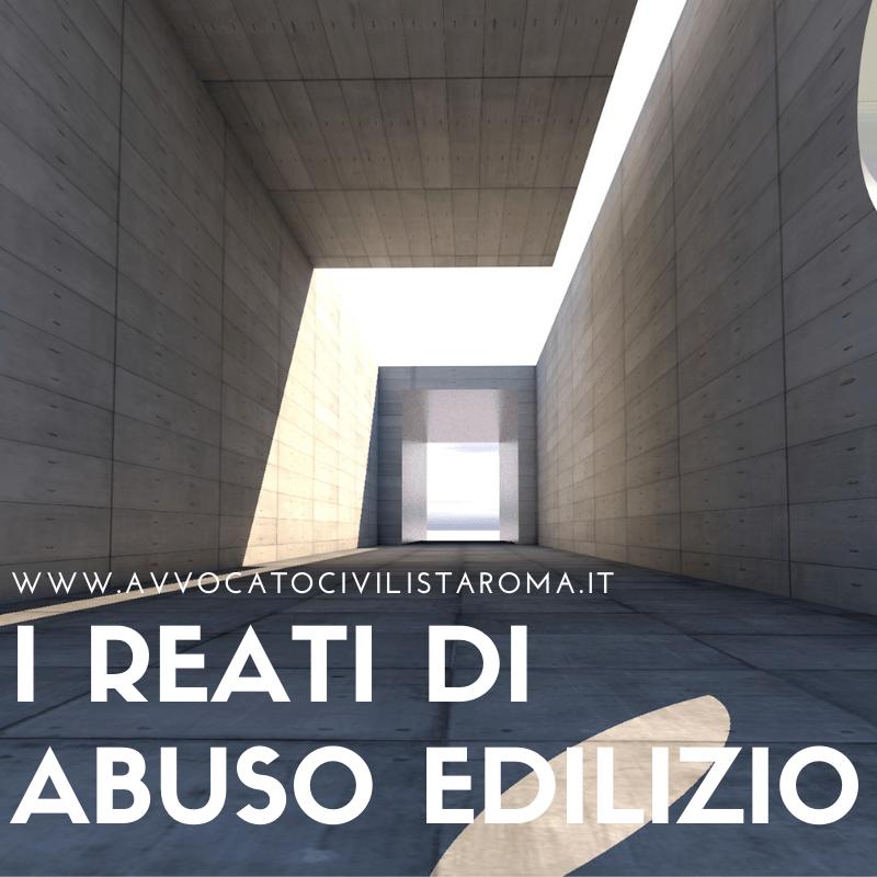 avvocato a roma per reati abuso edilizio