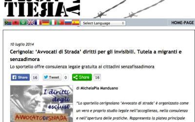 """Frontiera TV. Cerignola: """"Avvocato di strada, diritti per gli invisibili. Tutela a migranti e senzadimora"""""""