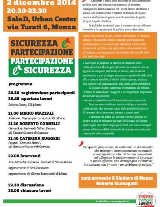"""02.12.14 Monza: """"Sicurezza è partecipazione"""""""
