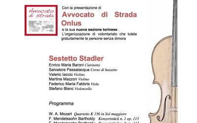 01.02.15 Torino: concerto/aperitivo di raccolta fondi per Avvocato di strada