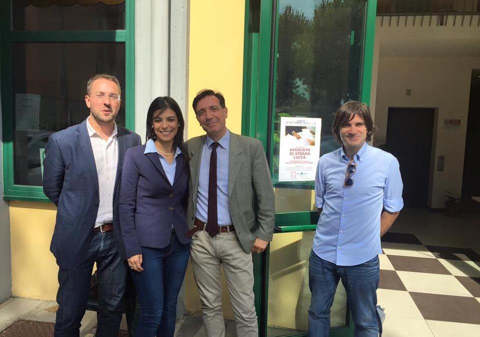 Foto inagurazione Avvocato di strada Lucca