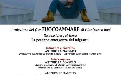 """05.12.16 Roma, incontro sulle migrazioni e proiezione di """"Fuocoammare"""""""