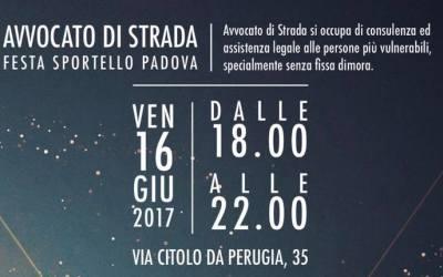 16.06.17, la festa annuale dei volontari di Avvocato di strada Padova