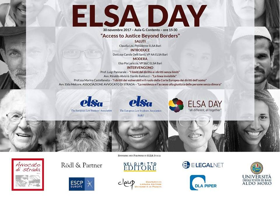 """ELSA DAY, Bari """"Access to justice beyond borders"""""""
