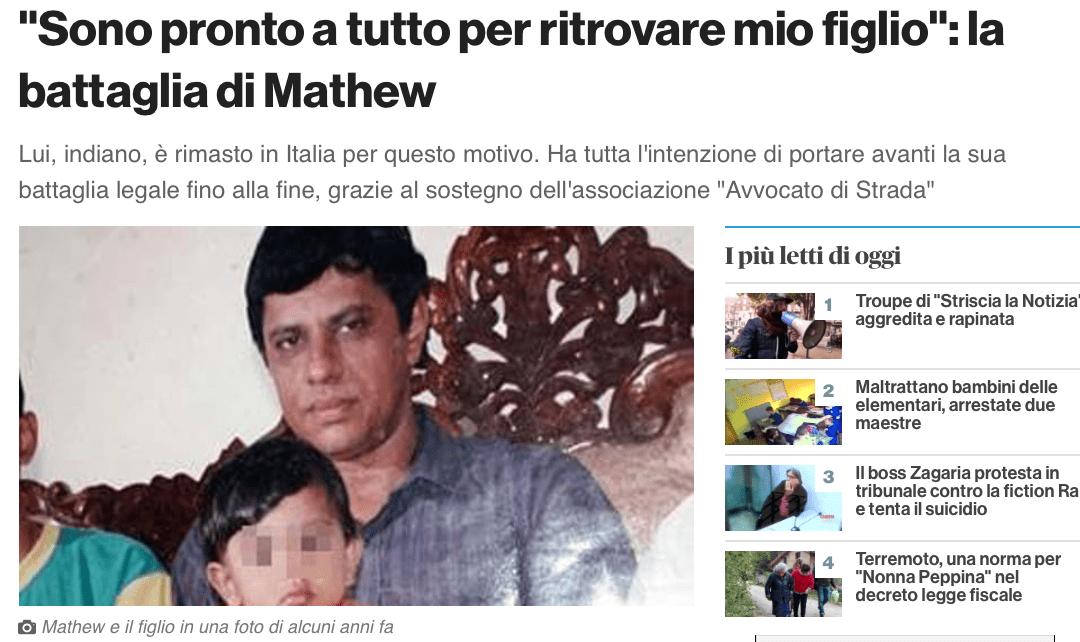 Al fianco di Mathew